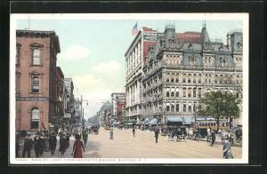 AK Buffalo, NY, Main Street, East from Lafayette Square