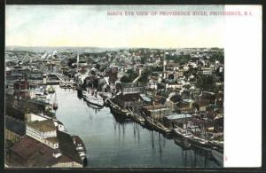 AK Providence, RI, Bird`s Eye View of Providence River