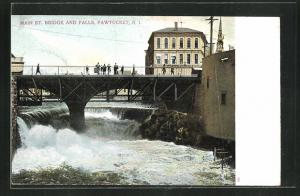 AK Pawtucket, RI, Main St. Bridge and Falls