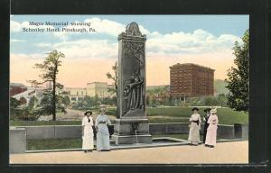 AK Pittsburgh, PA, , Magee Memorial showing Schenley Hotel