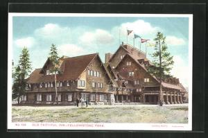 AK Yellowstone Park, WY, Hotel-Restaurant Old Faithful Inn