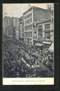 AK Baltimore, MD, Floats in the Jubilee Industrial Parade 1906