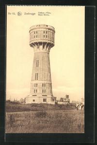 AK Zeebrugge, Chateau d`Eau, Wasserturm