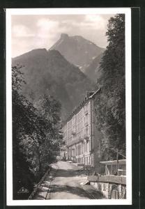 AK Eaux-Bonnes, Hotel des Princes et pic du Jer, Place Darralde