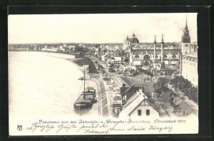 AK Düsseldorf, Panorama von der Industrie- und Gewerbe-Ausstellung 1902