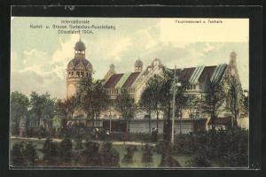 AK Düsseldorf, Internationale Kunst- und Grosse Gartenbau-Ausstellung 1904, Hauptrestaurant und Festhalle
