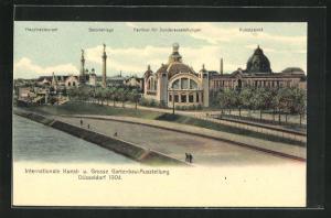 AK Düsseldorf, Internationale Kunst- und Grosse Gartenbau-Ausstellung 1904, Pavillon f. Sonderausstellungen, Kunstpalast