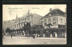 AK Güsten i. Anh., Hotel Thüringer Hof in der Bahnhofstrasse