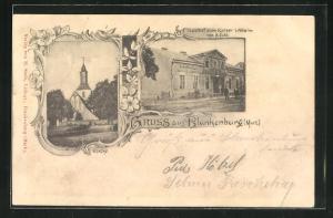 AK Berlin-Blankenburg, Gasthof zum Kaiser Wilhelm, Kirche