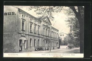AK Radeberg, Hotel und Gartenrestaurant Deutsches Haus