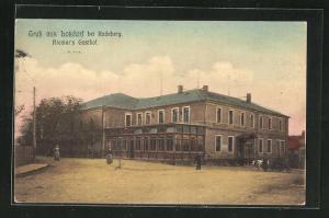 AK Lotzdorf, Blick auf Riemers Gasthof
