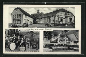 AK Nieder-Florstadt, Gasthaus zur Waldeslust, Tanzsaal