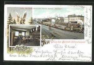 AK Barmen-Rittershausen, Bahnhofs-Restaurant des Staats-Eisenbahn-Vereins