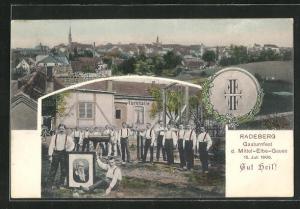 AK Radeberg, Gauturnfest des Mittel-Elbe-Gaues 15. Juli 1906