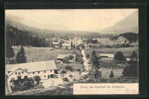 AK Josefstal, Teilansicht der Ortschaft