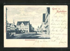 AK Mindelheim, Blick in die Maximilianstrasse