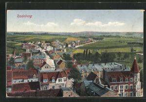 AK Radeberg, Teilansicht mit Blick in die Landschaft