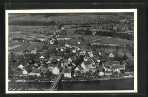 AK Rheinheim, Fliegeraufnahme des Dorfes