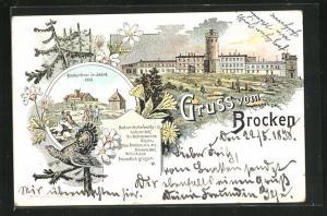 Lithographie Brocken, Brockenhaus im Jahre 1806