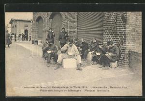 AK Köln-Wahn, Franzosen im deutschen Gefangenenlager beim Essen 1914