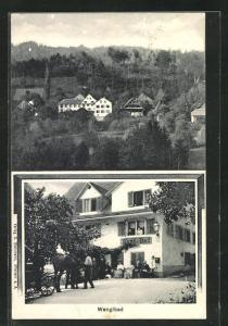 AK Wengibad, Ansichten vom Gasthaus Wengi-Bad