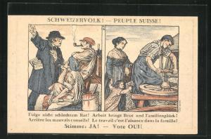 AK Schweiz, Wahlwerbung der Arbeiterbewegung, Menschen bei der Arbeit