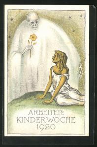 AK Schweizer. Sozialdemokr. Arbeiterverein, Arbeiter-Kinderwoche 1920, Der Tod und das Mädchen