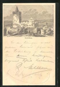 Vorläufer-AK Rudelsburg, 1895, Ganzsache PP9 F368