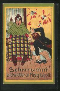 AK Schrrrumm! als widder en Fleeg kapott!, Lied von Willy Ostermann, Scherz