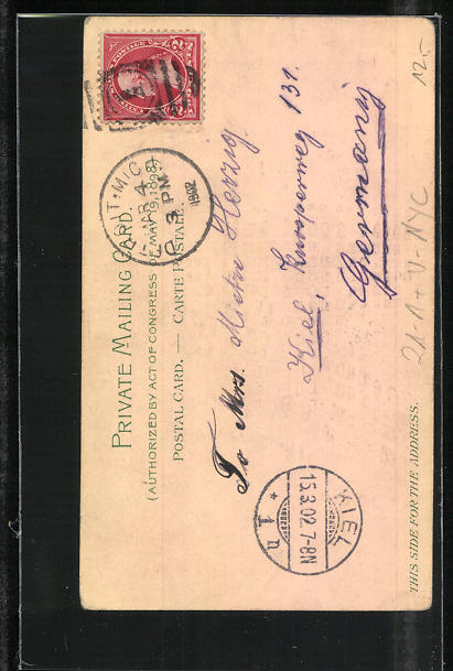 AK New York, NY, Postal Tel. Bldg., Home Life Bldg., Mutual Preserve Bldg, Halt gegen das Licht 1