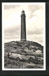 AK Amrum, Leuchtturm bei Nebel
