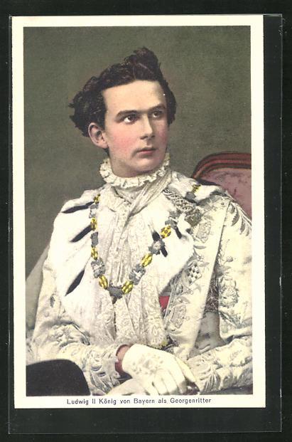 AK Ludwig II. König von Bayern als Georgsritter 0