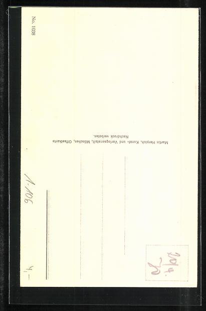 AK Ludwig II. König von Bayern als Georgsritter 1