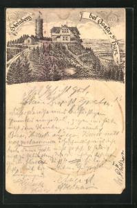 Vorläufer-AK Steinberg bei Goslar a/Harz, 1890, Hotel Steinberg, Ganzsache PP9 F383