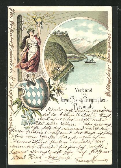 Lithographie Verband des bayer. Post- & Telegraphen-Personals 0