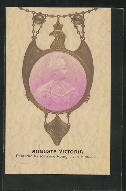Präge-AK Auguste Victoria, Deutsche Kaiserin und Königin von Preussen 0
