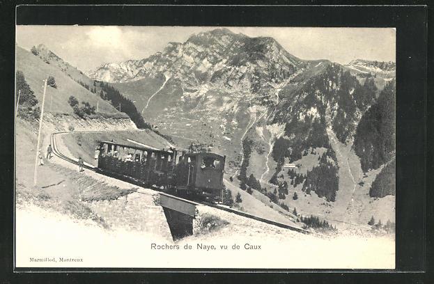 AK Rochers de Naye, vu de Caux, Bergbahn 0