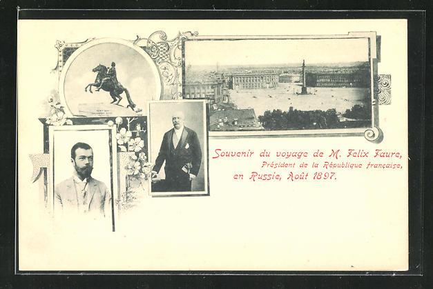 AK Voyage de M. Felix Faure en Russie 1897, Zar Nikolaus II. von Russland 0