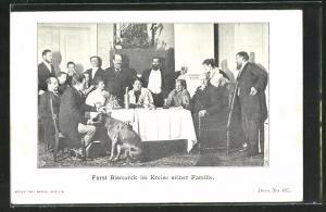 AK Fürst Bismarck im Kreise seiner Familie