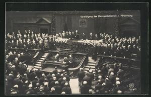AK Vereidigung des Reichspräsidenten Paul von Hindenburg