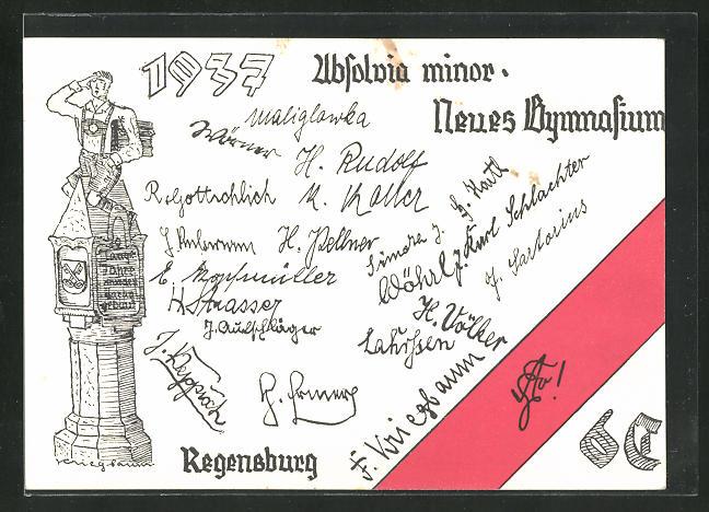 AK Regensburg, Absolvia minor 1937, Neues Gymnasium 0