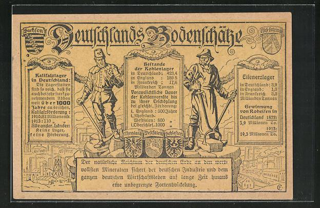 AK Deutschlands Bodenschätze, Bergmann und Schmied 0