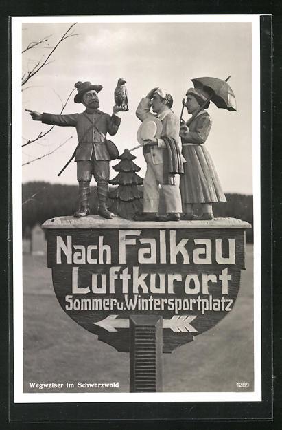 AK Wegweiser im Schwarzwald Richtung Falkau 0