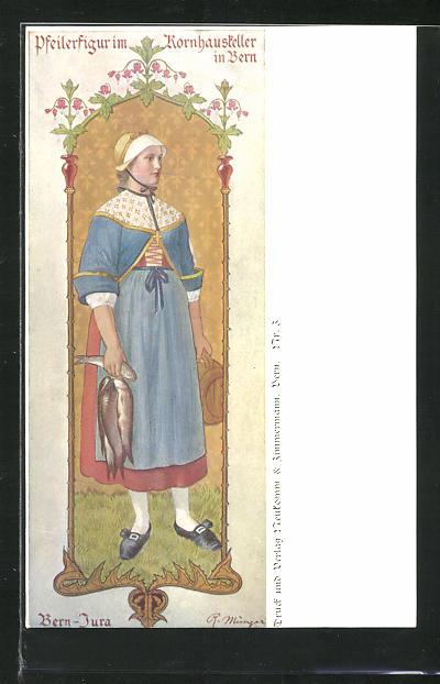 AK Bern, Pfeilerfigur im Kornhauskeller 0