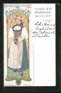 AK Bern, Pfeilerfigur im Kornhauskeller