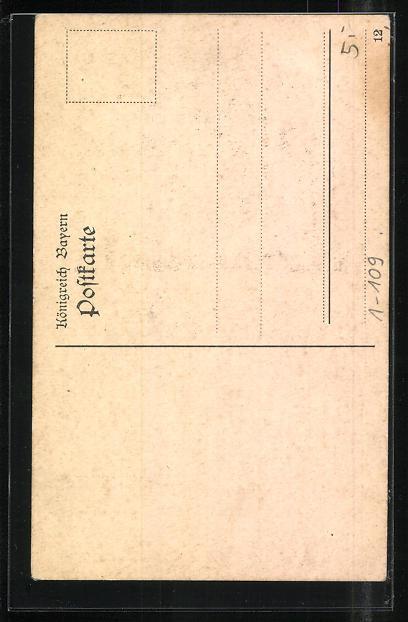 AK Zur Erinnerung an die erste Pfalzreise König Ludwig III. 7. bis 13. Mai 1913 1