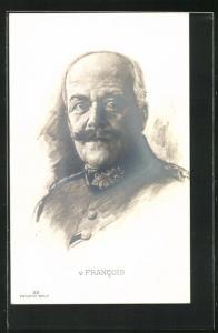 Künstler-AK Bildnis General v. Francois