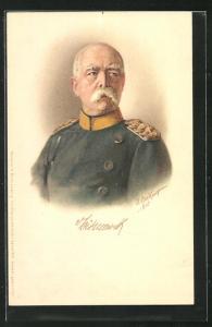 AK Porträt Bismarcks in Uniform
