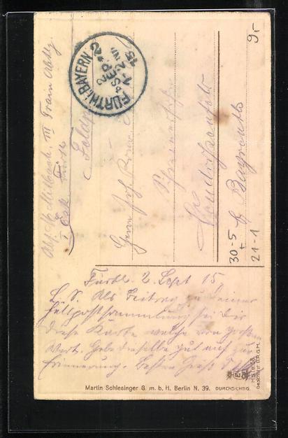 AK Propaganda 1. Weltkrieg, Festung Namur vor dem Fall, Halt gegen das Licht 1