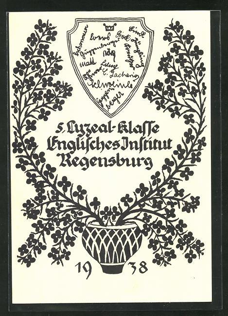 AK Regensburg, Absolvia 1938, 5. Lyzeal-Klasse, Englisches Institut 0